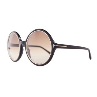 Tom Ford Women's 'Carrie FT0268 01F' Oval Sunglasses