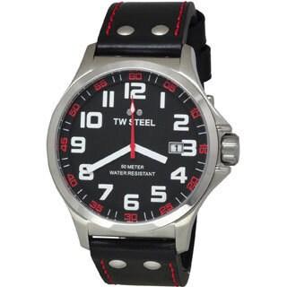 TW Steel Men's Stainless Steel TW411 Pilot Black Watch