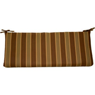 Trijaya Living 4-foot Sunbrella Patio Furniture Bench Cushion Davidson Redwood