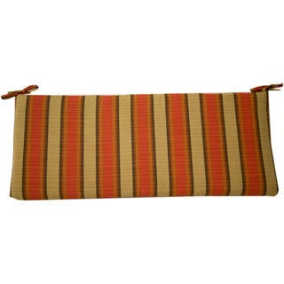 Trijaya Living Sunbrella Patio Furniture Bench Cushion Dimone Flame