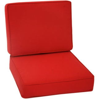 Trijaya Living Sunbrella Universal Club Chair Cushion Jockey Red