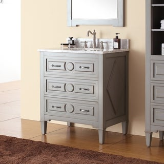 Avanity Kelly 30-inch Vanity Combo in Grayish Blue with Top and Sink