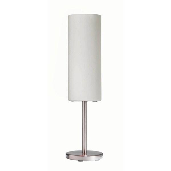 Single-light Satin Chrome Table Lamp