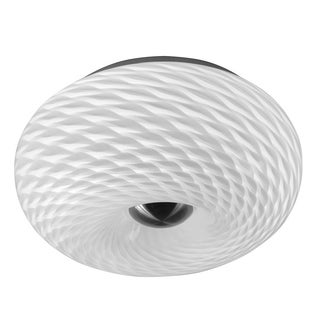 Macheral Satin Chrome and Glass 2-light Flush-mount Fixture