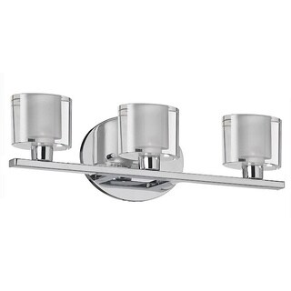 3-light Oval Crystal Polished Chrome Vanity Fixture