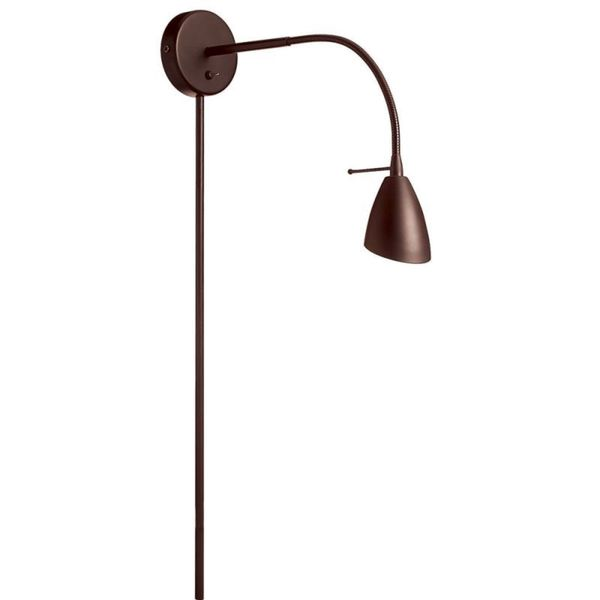 Oil Brushed Bronze Wall-mounted Halogen Reading Lamp