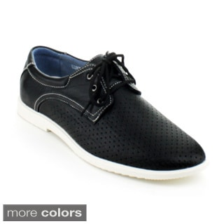 J's Awake Men's 'Luck-01' Lace-up Oxford Sneakers