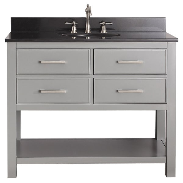 avanity brooks chilled grey 42 inch vanity combo