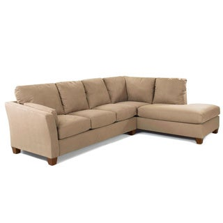 Made to Order Purelife Drake Right Arm Tan Sofa Sectional with Chaise