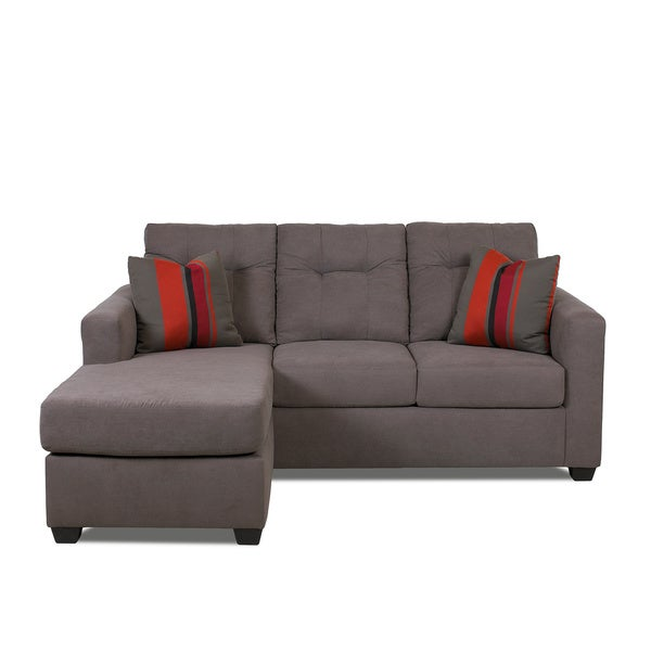 made to order purelife hudson grey sofa with chaise 16569306 shopping big. Black Bedroom Furniture Sets. Home Design Ideas