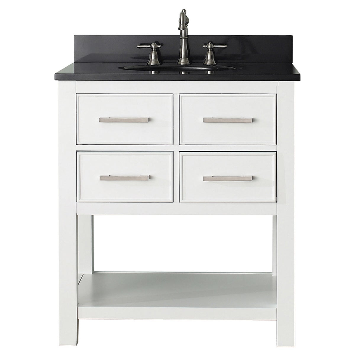 Avanity Brooks White 30 Inch Vanity Combo Overstock Shopping Great Deals On Bathroom Vanities
