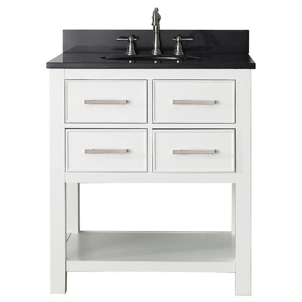 Avanity Brooks White 30 Inch Vanity Combo 16569342 Overstock Shopping Great Deals On