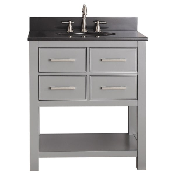 Avanity Brooks Chilled Grey 30 Inch Vanity Combo 16569343 Shopping Great