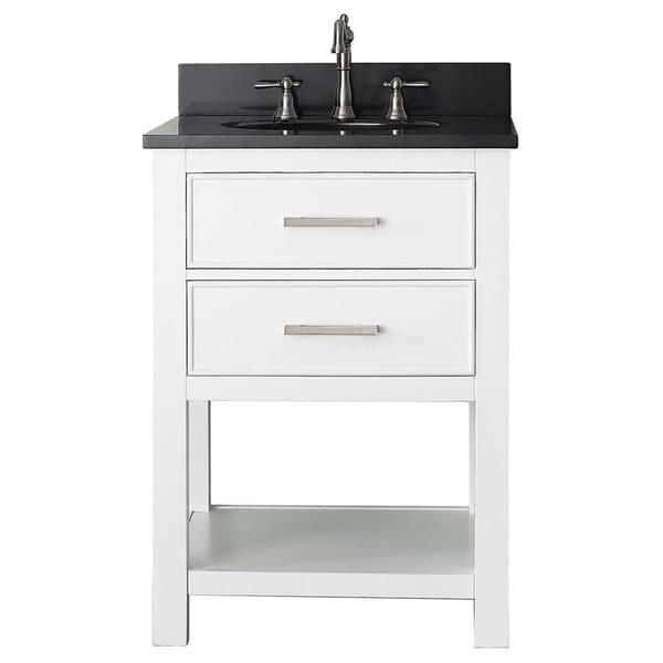 avanity brooks white 24 inch vanity combo
