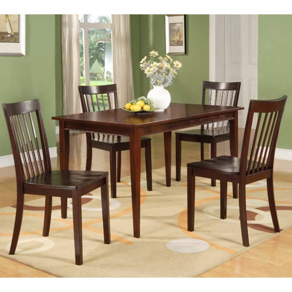 Modern Cherry Rectangular Wooden Dining Table 16569390 Overstock