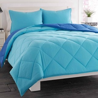 City Scene Ocean Blue Reversible Comforter Set