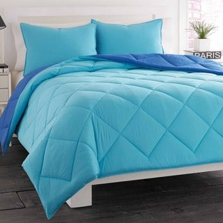 City Scene Ocean Blue Reversible 3-piece Comforter Set
