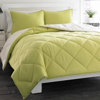 City Scene Soft Green Reversible 3-piece Comforter Set