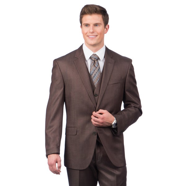 Kenneth Cole Crme Label Slim Fit Brown Suit Separates Coat