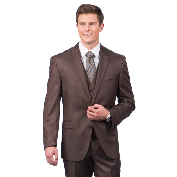 Kenneth Cole Crme Label Slim Fit Brown Suit Separates Coat