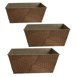 Hammered Metal 4-inch Planters (Set of 3)