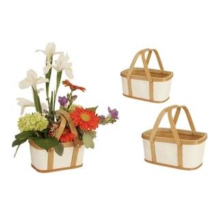 Wood/ Paper Basket (Set of 3)