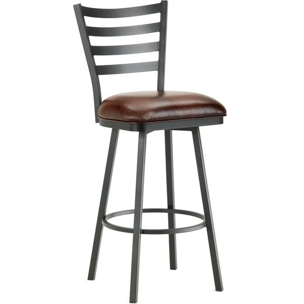 Tioga Steel Ladderback Swivel Bar Stool