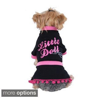 Pet Dog Puppy Clothes Apparel Cotton Little Doll Bow Party Pullover Dress Skirt