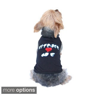 Pet dog clothes Bitches Love me Tshirt doggy tank