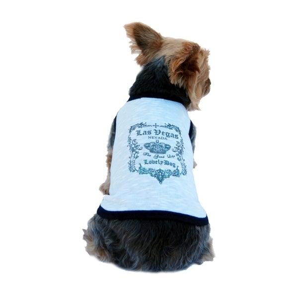 Insten Las Vegas Lovely dog printing T-Shirt for dog pet clothes glitter top puppy