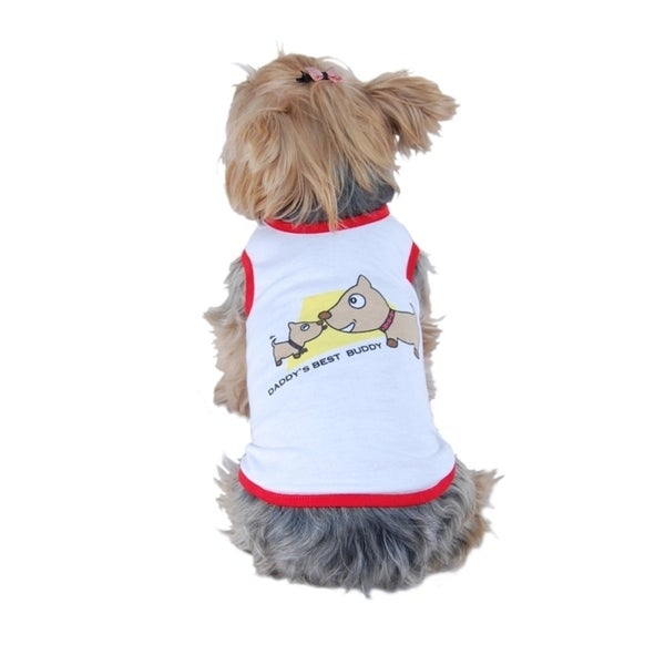 Insten Clothes for pets Daddy's Best Buddy dog shirt T-Shirt tank top puppy