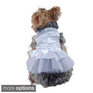 Insten Cute Pet Dog Stud Lace Skirt Cat Wedding Clothes Party Dress