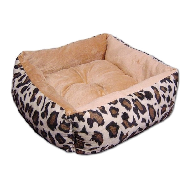 Insten Pet Puppy Cat Comfy Cozy Snuggle Leopard Washable Dryable Plush Beds Mattress