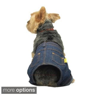 Insten Pet Dog Puppy Cool Denim Pants Trousers Jeans Clothes Apparel