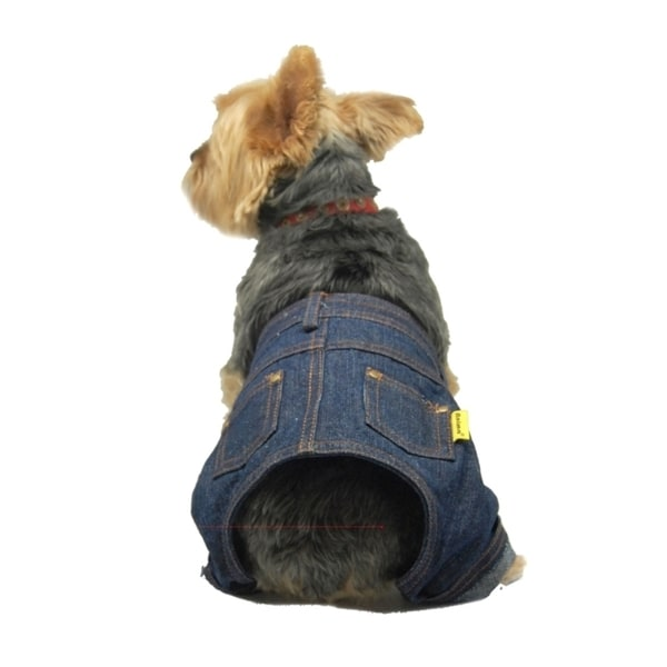 Insten Pet Dog Puppy Cool Denim Pants Trousers Jeans Clothes Apparel