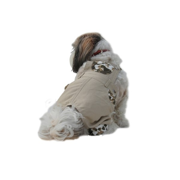 Insten Pet Dog Clothing Vest Harness Puppy Coat outdoor Clothes khaki