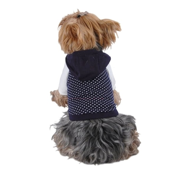 Insten Pet Dog Puppy Apparel Stylish Polka Dots Hoodies Sweatshirt Jacket