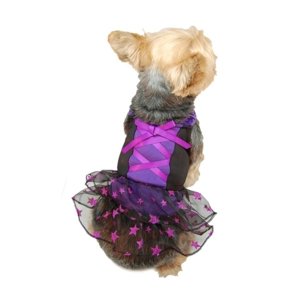 Insten Dog Cat Clothes Cute Glitter sheer party Dress Skirt Pet Puppy Costume
