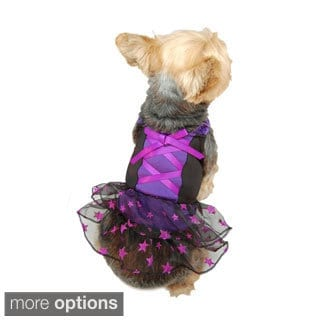 Dog Cat Clothes Cute Glitter sheer party Dress Skirt Pet Puppy Costume