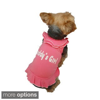 Insten Pet Dog Puppy Clothes Daddy's Girl Ruffle Old Style Layer Collar Dress Skirt