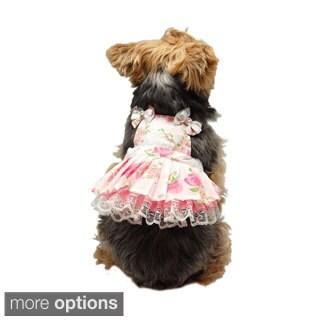 Cute Pet Dog Dress Lace Skirt Princess Clothes Party Flower Dress