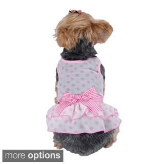 Pet Polka Dots Party Dog Chiffon Dress Skirt Clothes Pet Apparel