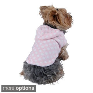 Polka Dot Dog Dress Pet Hoodie Clothes Shirt Sweater Puppy Apparel