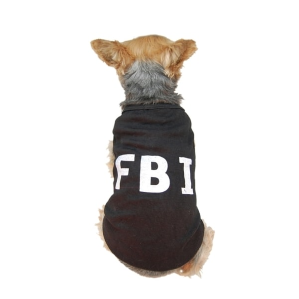 Insten Cute Black 'FBI' Costume Dog T-shirt