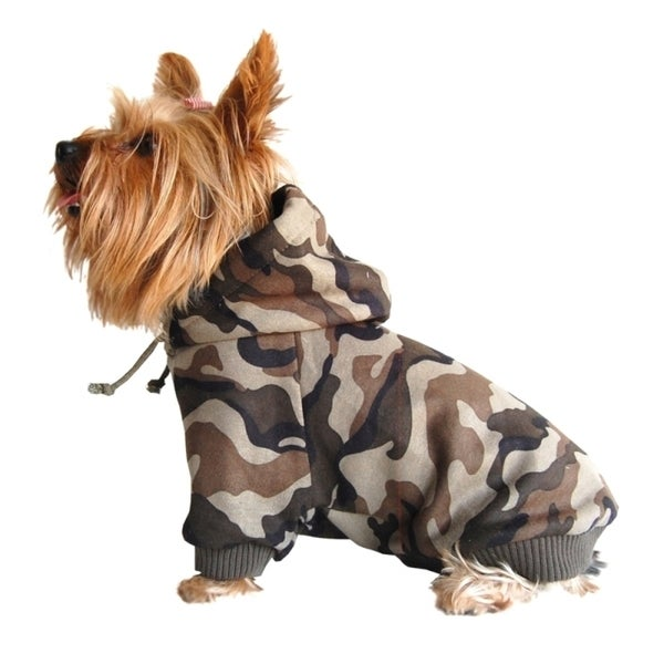 Insten Camo Dog Sweatshirt with Hood