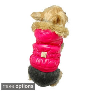 BasAcc Hot Pink Bubble Trench Coat Winter Jumpsuit Jacket Apparel for Dog Puppy
