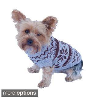 Classic Snowflake Dog Turtle Neck Sweater