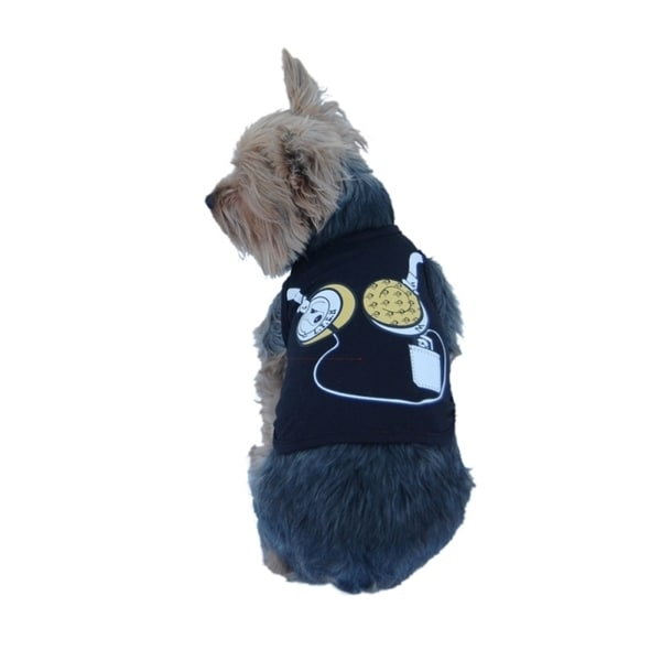 Insten Pet dog cute T-Shirt clothes vest summer Music puppy headphone pattern
