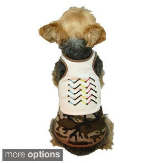 Pet Dog Puppy Apparel Clothing Polyester Cotton Camouflage Army Boy Shirt Vest
