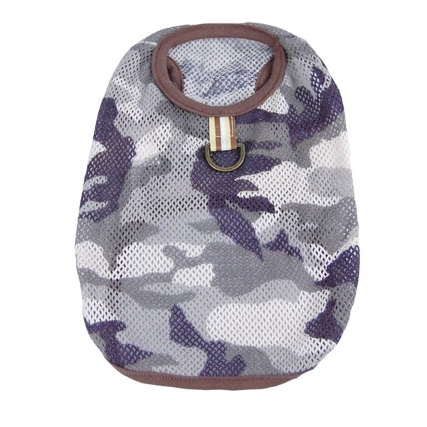 Insten Pet Clothes Summer Dog Camo Camouflage T-shirts doggy puppy clothing
